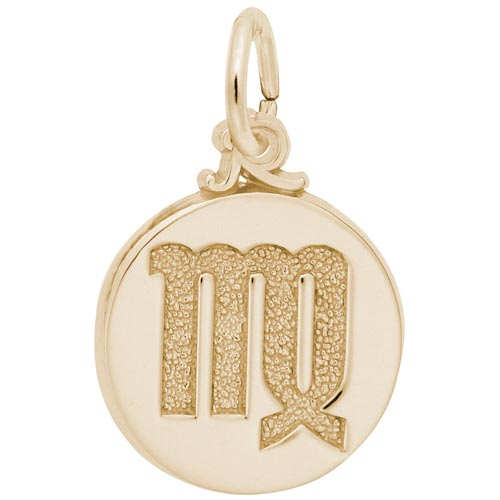 Gold Plated Virgo Zodiac Charm by Rembrandt Charms