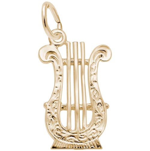 Gold Plate Lyre Charm by Rembrandt Charms