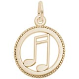 Gold Plate Music Note Charm by Rembrandt Charms