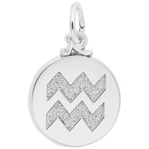 Sterling Silver Aquarius Zodiac Charm by Rembrandt Charms