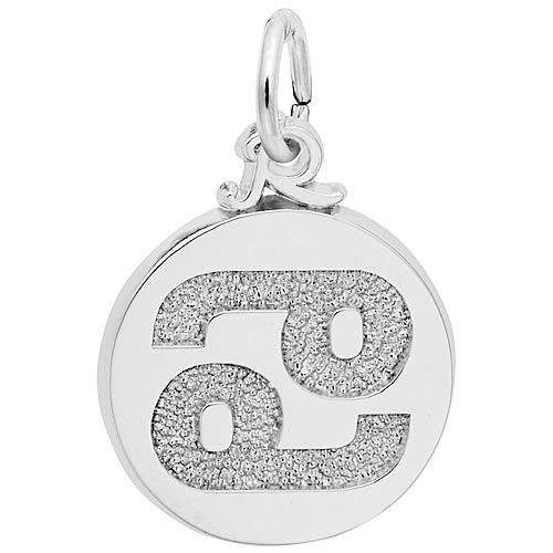 14K White Gold Cancer Zodiac Charm by Rembrandt Charms