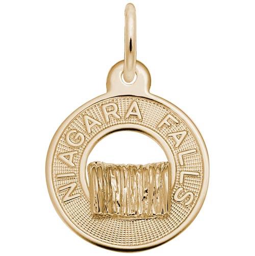 14K Gold Niagara Falls Charm by Rembrandt Charms
