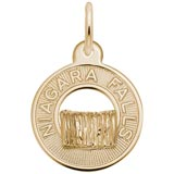 14K Gold Niagara Falls Charm by Rembrandt Charms