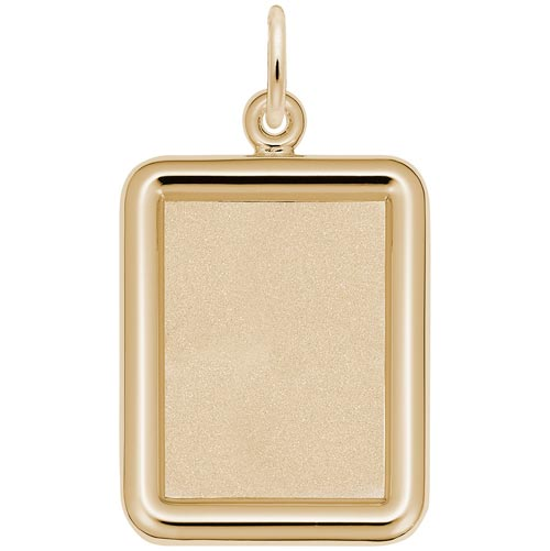 14K Gold Rectangle PhotoArt® Charm by Rembrandt Charms