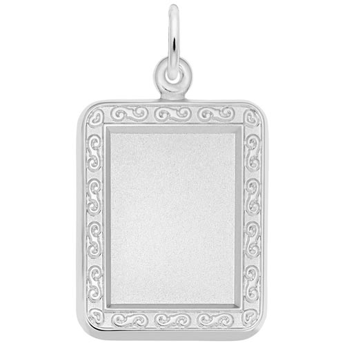 14K White Gold Rectangle PhotoArt® Charm by Rembrandt Charms