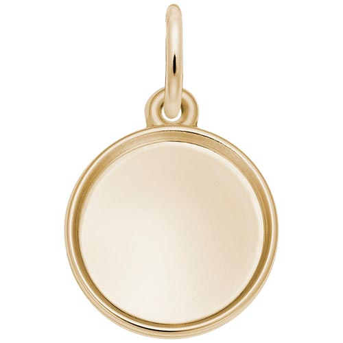 Gold Plated Small Circle PhotoArt® Charm by Rembrandt Charms