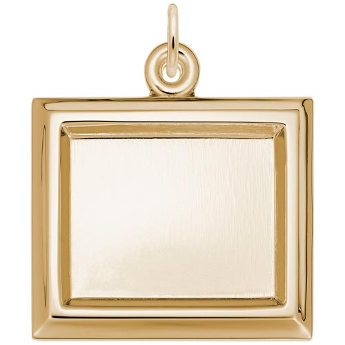 Gold Plated Large Rectangle PhotoArt® Charm by Rembrandt Charms