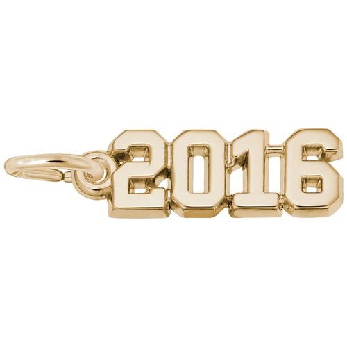 Gold Plated Year 2016 Charm by Rembrandt Charms