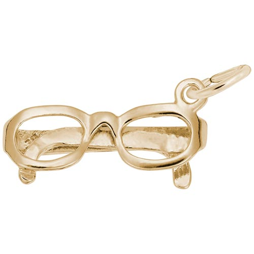 14k Gold Eye Glasses Charm by Rembrandt Charms