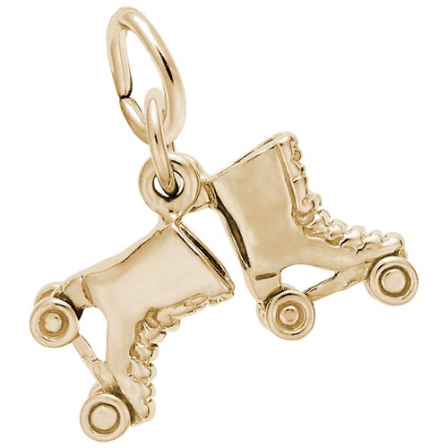 14K Gold Roller Skates Accent Charm by Rembrandt Charms