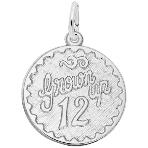 14k White Gold Grown Up 12 Birthday by Rembrandt Charms