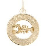 10K Gold Boston Lobster Charm by Rembrandt Charms