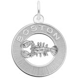 14K White Gold Boston Lobster Charm by Rembrandt Charms