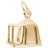 Gold Plated Camping Tent Charm by Rembrandt Charms