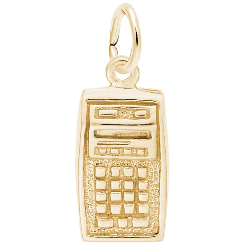 Gold Plated Calculator Charm by Rembrandt Charms