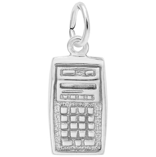 Sterling Silver Calculator Charm by Rembrandt Charms
