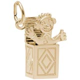 Gold Plate Jack In The Box Charm by Rembrandt Charms