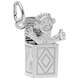 14K White Gold Jack In The Box Charm by Rembrandt Charms
