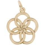 Gold Plated The 12 Days of Christmas Day 5 by Rembrandt Charms