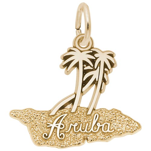 Gold Plated Aruba Palm Trees Charm by Rembrandt Charms