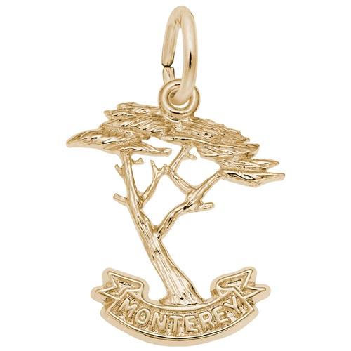 14K Gold Monterey Cypress Charm by Rembrandt Charms