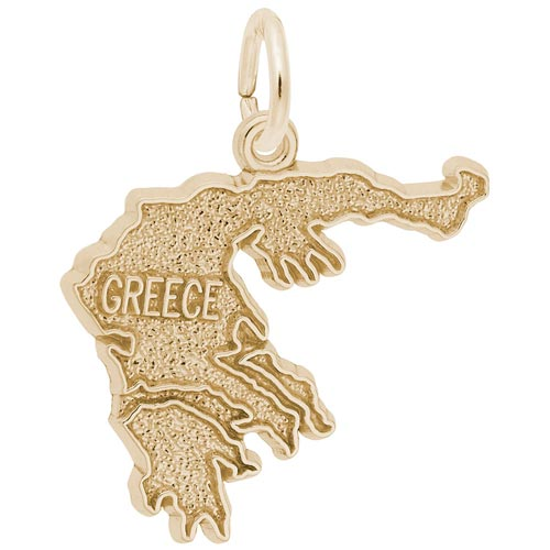 Gold Plated Greece Charm by Rembrandt Charms