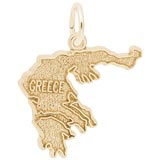 14k Gold Greece Charm by Rembrandt Charms
