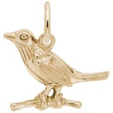 10K Gold Robin Charm by Rembrandt Charms