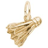 14K Gold Badminton Birdie Charm by Rembrandt Charms