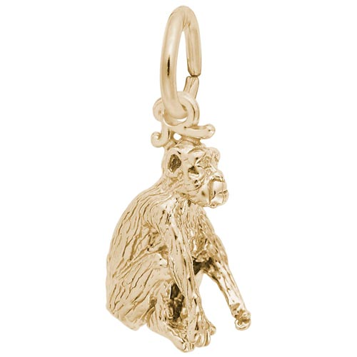 Gold Plated Monkey Charm by Rembrandt Charms