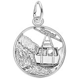 14K White Gold Banff Canada Charm by Rembrandt Charms