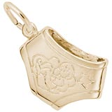 10K Gold Baby Diaper Charm by Rembrandt Charms