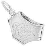 14K White Gold Baby Diaper Charm by Rembrandt Charms