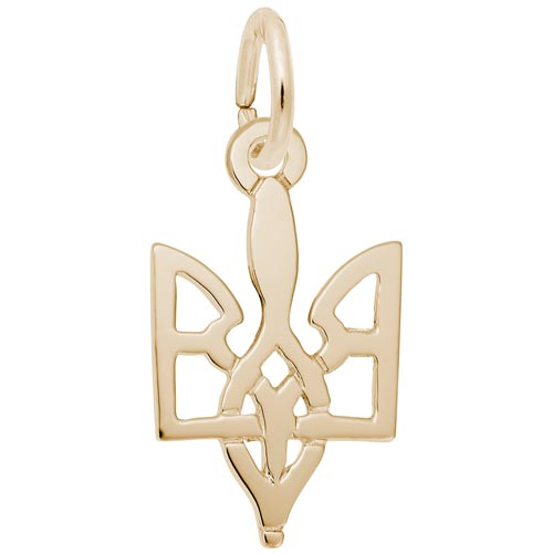 Gold Plated Ukrainian Trident Charm by Rembrandt Charms