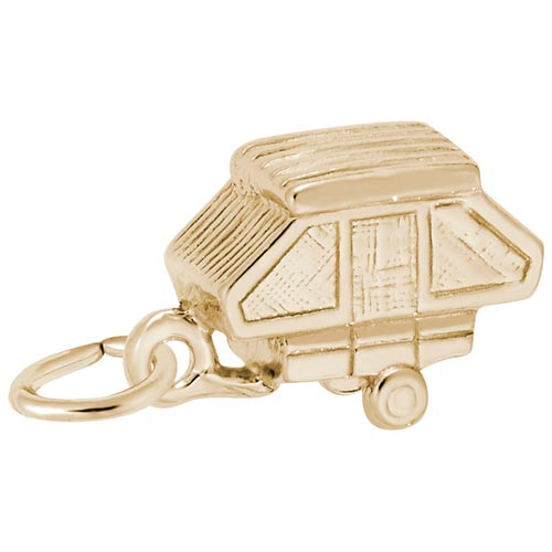 14K Gold Tent Trailer Charm by Rembrandt Charms