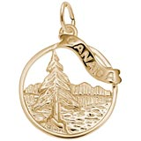 Gold Plated Canada Charm by Rembrandt Charms