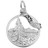 14K White Gold Canada Charm by Rembrandt Charms