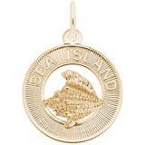 Gold Plated Sea Island Charm by Rembrandt Charms