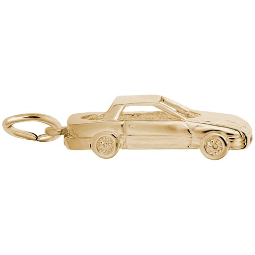 Gold Plated Mid-Engine Sports Car Charm by Rembrandt Charms