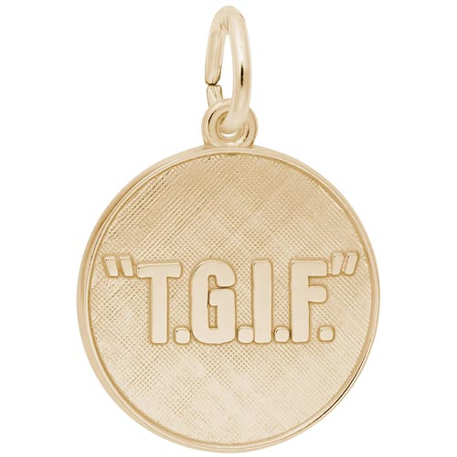 14K Gold TGIF Charm by Rembrandt Charms