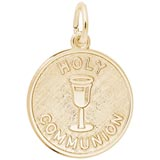 10K Gold Holy Communion Charm by Rembrandt Charms