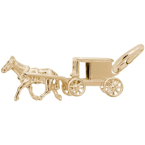 14K Gold Amish Wagon Charm by Rembrandt Charms