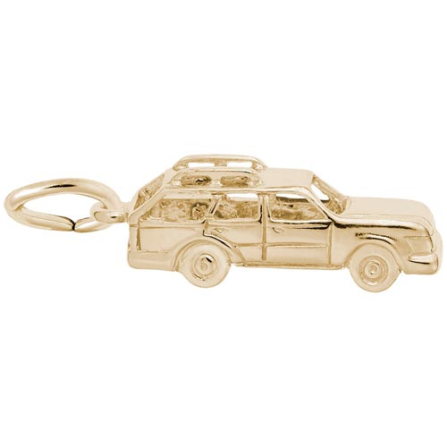 14K Gold Station Wagon Charm by Rembrandt Charms