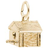 Gold Plated Birdhouse Charm by Rembrandt Charms