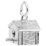 14K White Gold Birdhouse Charm by Rembrandt Charms