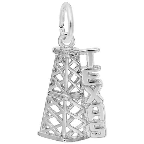 Sterling Silver Texas Oil Derrick Charm by Rembrandt Charms