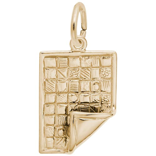 14k Gold Quilt Blanket Charm by Rembrandt Charms