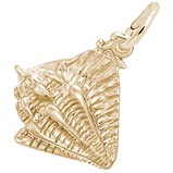 10K Gold Conch Shell Charm by Rembrandt Charms