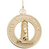 Gold Plate New Brunswick Lighthouse Charm by Rembrandt Charms