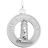 14K White Gold New Brunswick Lighthouse Charm by Rembrandt Charms